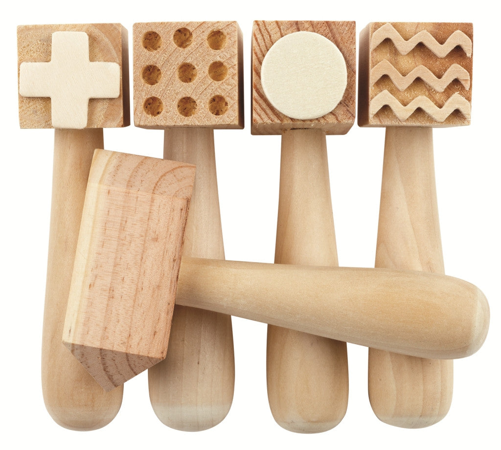 Patterned Wooden Dough Hammer