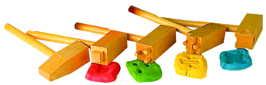 Wooden Clay Hammers