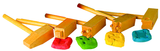 5 hammers shown with playdough