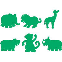 stamper shapes showing elephant, lion, giraffe, hippo, monkey and rhino