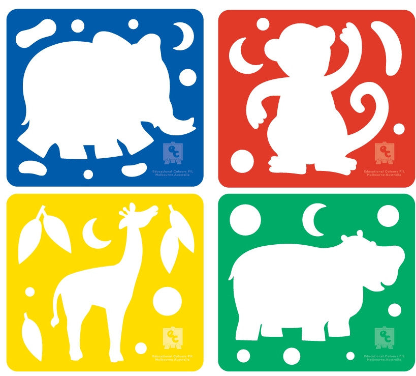 Zoo Animal Shaped Cutters for Playdough
