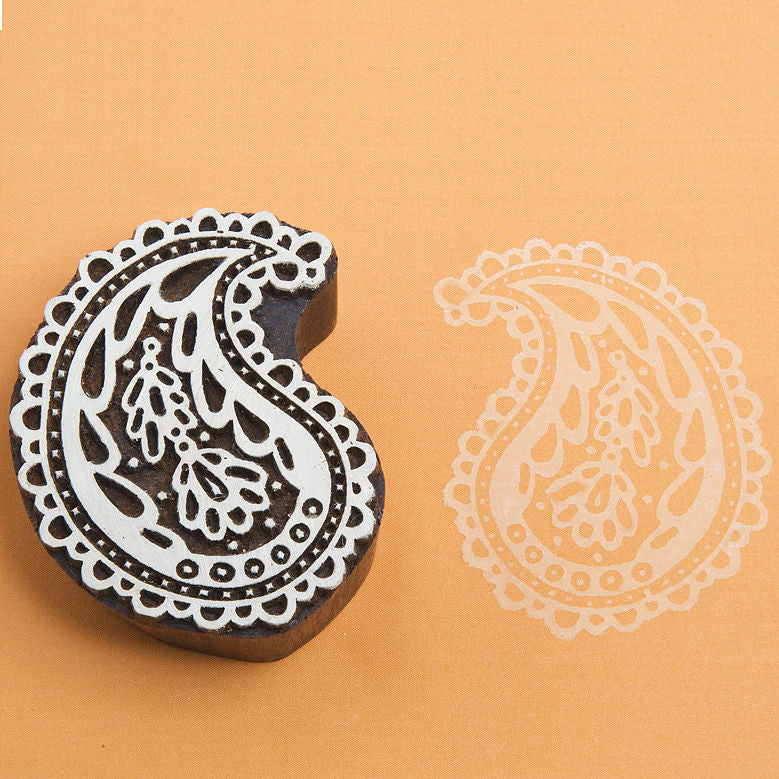 Lace Paisley Stamp by Blockwallah