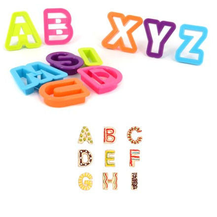 Alphabet Cutters for Playdough