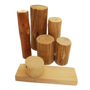 7 wooden pieces