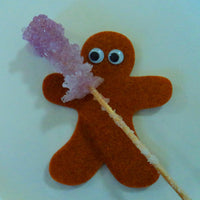 Felt Gingerbread Man with Sugar