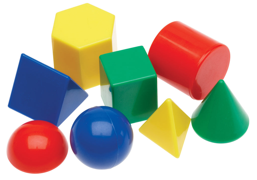 8 plastic shapes