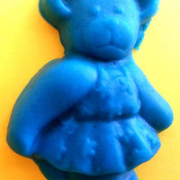 playdough teddy bear made with mould