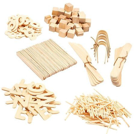 Natural Wooden Accessories Kit for Playdough