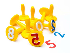 set of number stampers for play dough