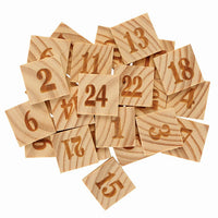 wooden tiles with numbers