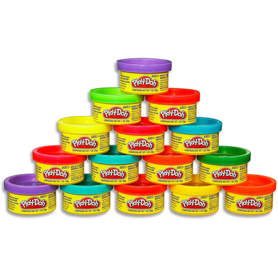 stack of 15 mini tubs of Play-Doh