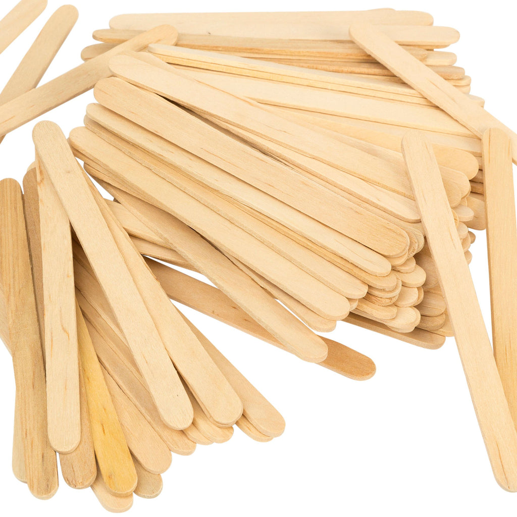 Natural Wooden Craft Sticks - Set of 100