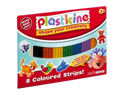 Plasticine in 8 colours - Dough and clay