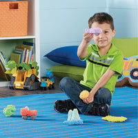 boy with playfoam on floor