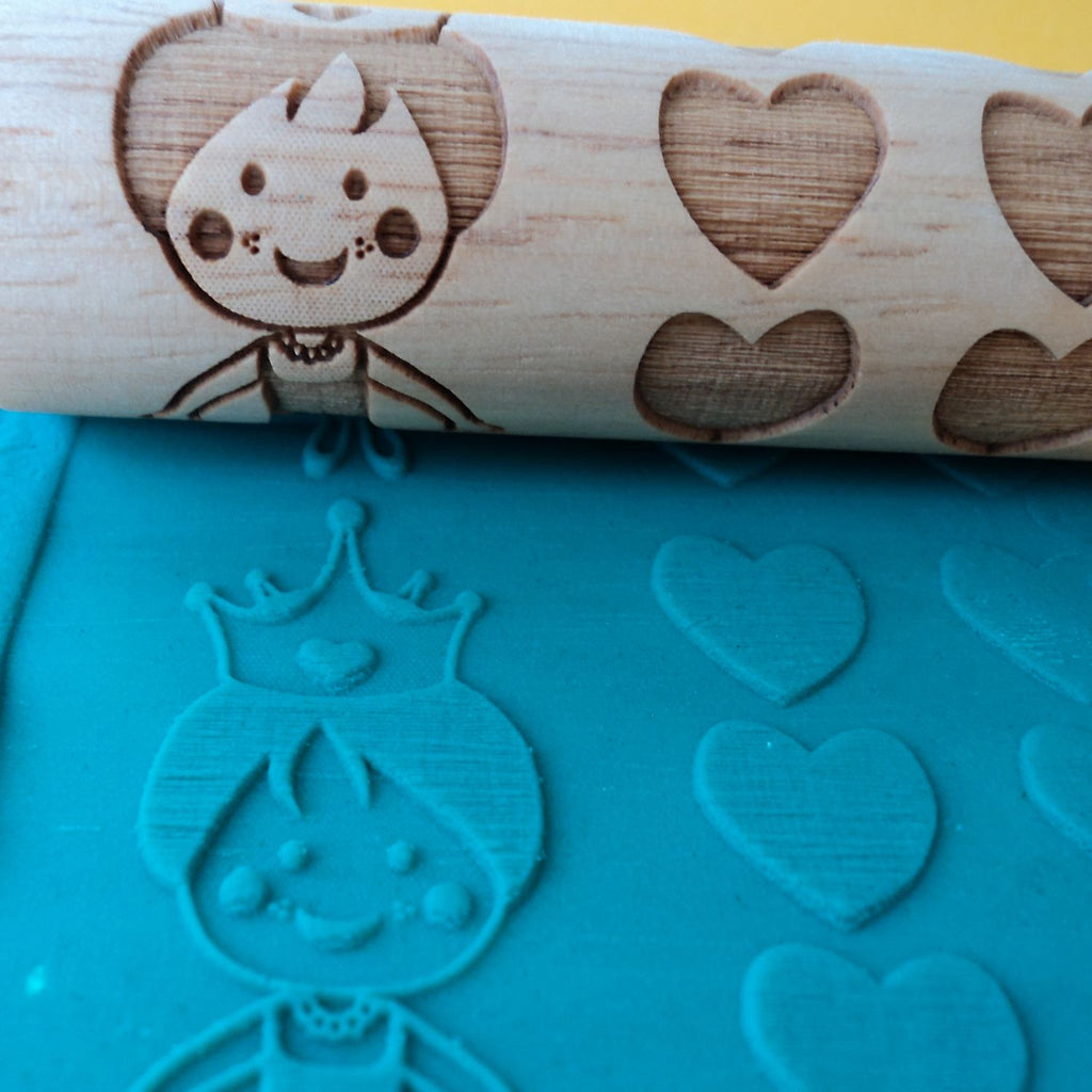 Princess Laser Engraved Rolling Pin