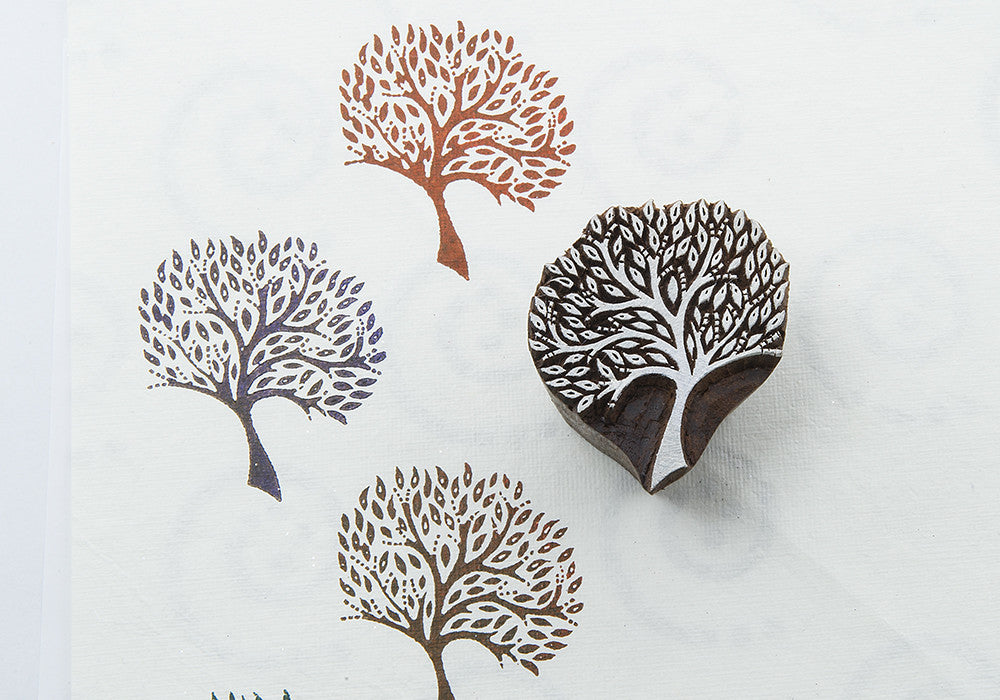 Tree design on a Rosewood stamp