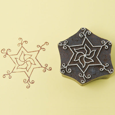 Star design on a Rosewood stamp