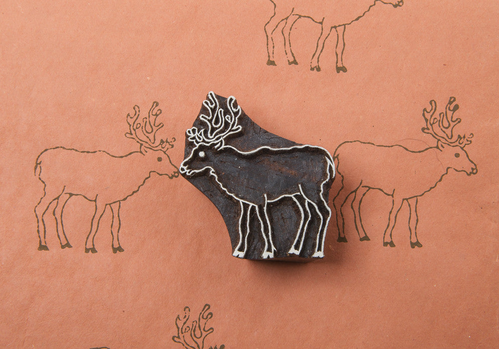 Standing Reindeer Stamp by Blockwallah