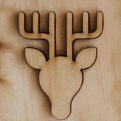 Wooden reindeer toy