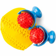 space and hearts rollers shown in yellow playdough