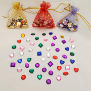 50 rhinestones shown with 3 bags of rhinestones