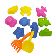 Colourful sand tools