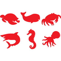 stamper shapes showing turtle, whale, crab, shark, seahorse, octopus