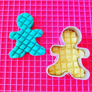 Mat shown with playdough and cutter
