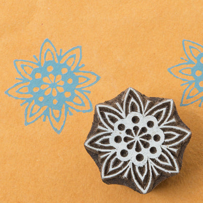 Mandala design on a Rosewood stamp
