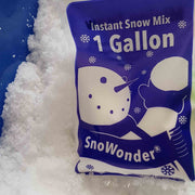 Snowonder packet show inside blue tub of snow