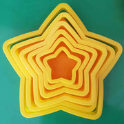 Set of 6 cutters shown with playdough