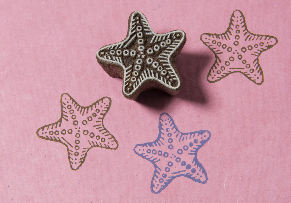 Starfish design on a Rosewood stamp