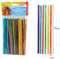 Thin Paddle Pop Sticks