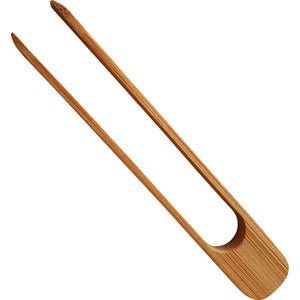 1 pair of wooden tongs
