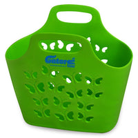 green plastic tote bag
