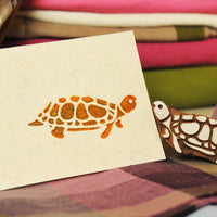 Turtle stamp and print on card