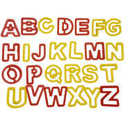 Upper case alphabet cutters