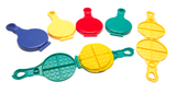 waffle maker for playdough in 4 colours