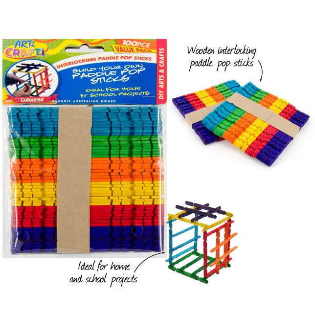 Interlocking Paddle Pop Sticks - Craft