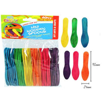 pack of colourful wooden spoons