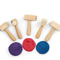 Hammers and playdough