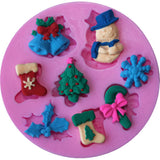 collection of clay items made with Christmas mould