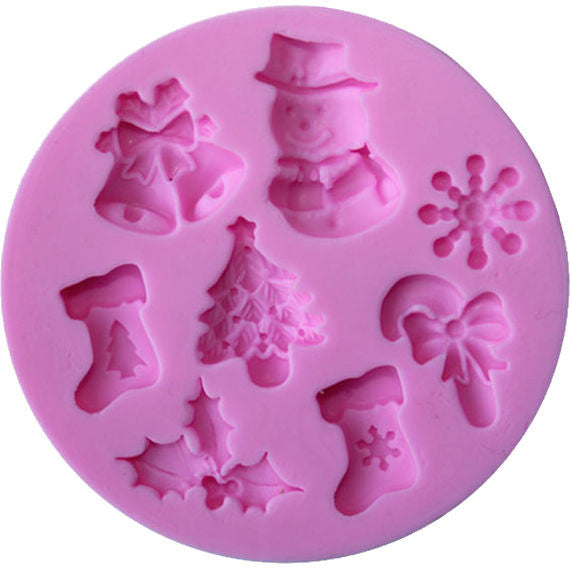 Christmas mould with 8 images to create