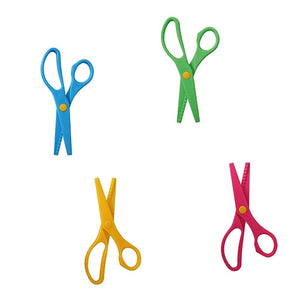pink, blue, yellow, green scissors