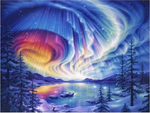 Paysage Étoiles - 5D Kit Broderie Diamants/Diamond Painting VM4100