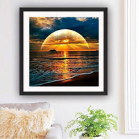 Coucher Du Soleil Décoration Murale De Rêve- 5D Kit Broderie Diamants/Diamond Painting VM7773