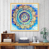 Grosses Soldes Photo Abstrait Mandala - 5D Kit Broderie Diamants/Diamond Painting BQ5004