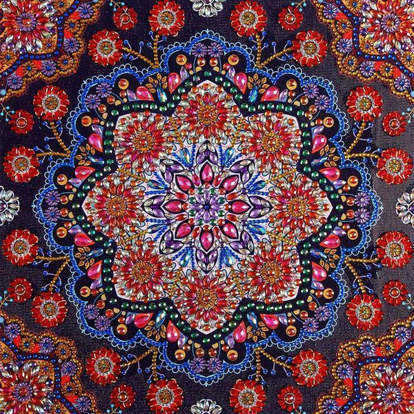 Grosses Soldes Photo Abstrait Mandala - 5D Kit Broderie Diamants/Diamond Painting BQ5005