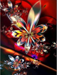 Fleurs Abstraites Colorées D'Art Moderne 2019 - 5D Kit Broderie Diamants/Diamond Painting VM7379