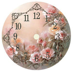 Tableau D'Horloge Fleurie - 5D Kit Broderie Diamants/Diamond Painting NB0169